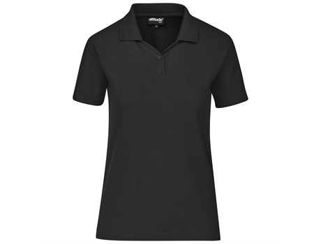 Altitude Clothing Ladies Basic Pique Golf Shirt in Black Code ALT-BBL