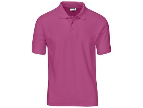 Altitude Clothing Mens Basic Pique Golf Shirt in Charcoal Code ALT-BBM