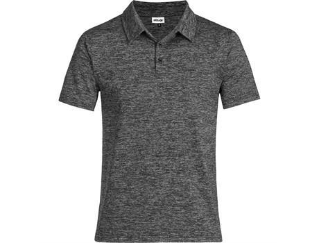 Altitude Clothing Mens Echo Golf Shirt in Black Code ALT-ECM