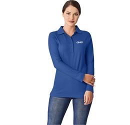 Ladies Long Sleeve Boston Golf Shirt