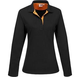 Golfers - Ladies Long Sleeve Solo Golf Shirt