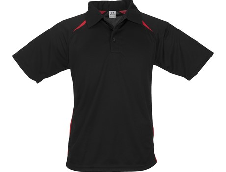 Biz Collection Mens Splice Golf Shirt in Black With Red Code BIZ-3610