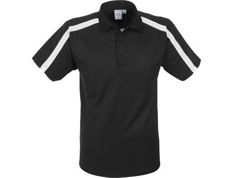 Biz Collection Mens Monte Carlo Golf Shirt in Black Code BIZ-3612