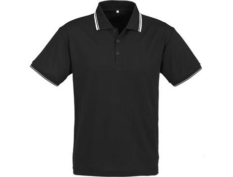 Biz Collection Mens Cambridge Golf Shirt in Black Code BIZ-4854
