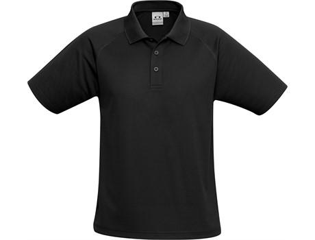 Biz Collection Mens Sprint Golf Shirt in Black Code BIZ-7103