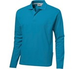 Mens Long Sleeve Zenith Golf Shirt Aqua